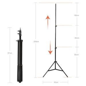 "Image 5 - Godox 40x40 سنتيمتر 15 ""* 15"" بوصة فلاش Speedlite سوفت بوكس + S نوع قوس بونز جبل عدة مع 2 متر ضوء حامل للتصوير الفوتوغرافي الكاميرا"