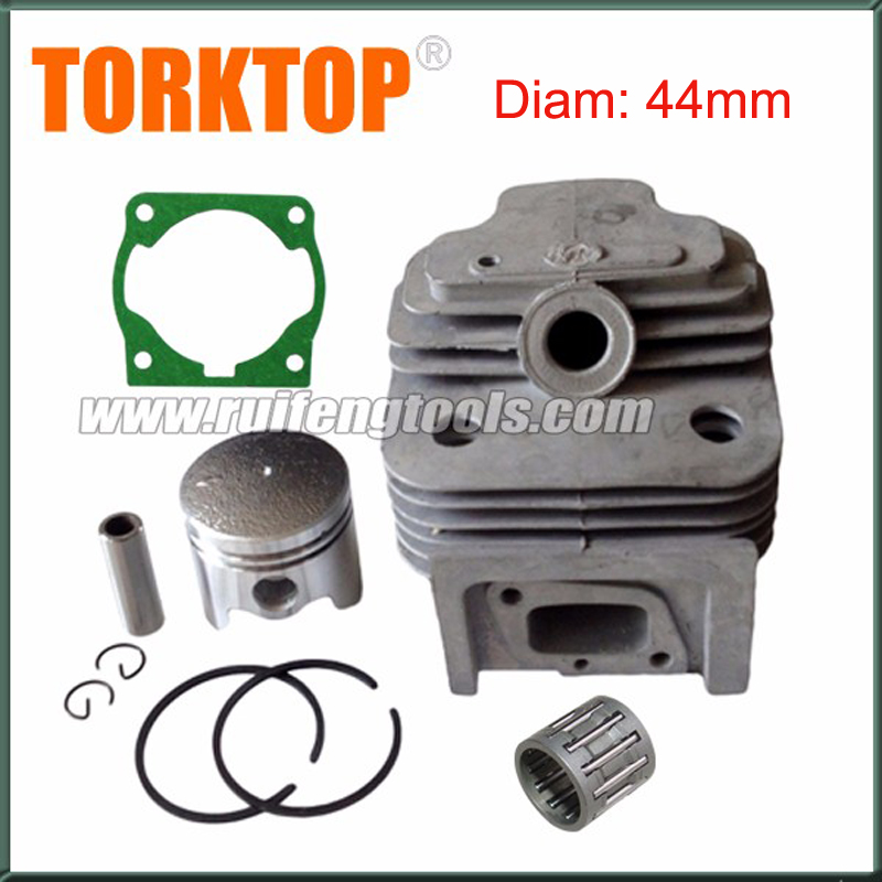1x CG520  52CC 44F-5 Engine  Brush Cutter Cylinder Piston  KITS 44MM