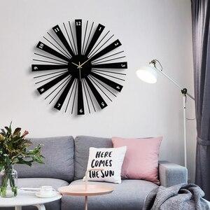 Уникальные северные часы, минималистичные креативные часы, большие настенные часы, украшение дома, аксессуары, современные часы Duvar Saatleri ...