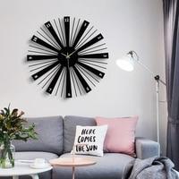 Unique Nordic Clock Minimalist Creative Clocks Large Wall Clock Home Decoration Accessories Modern Duvar Saatleri Watch 50KO546
