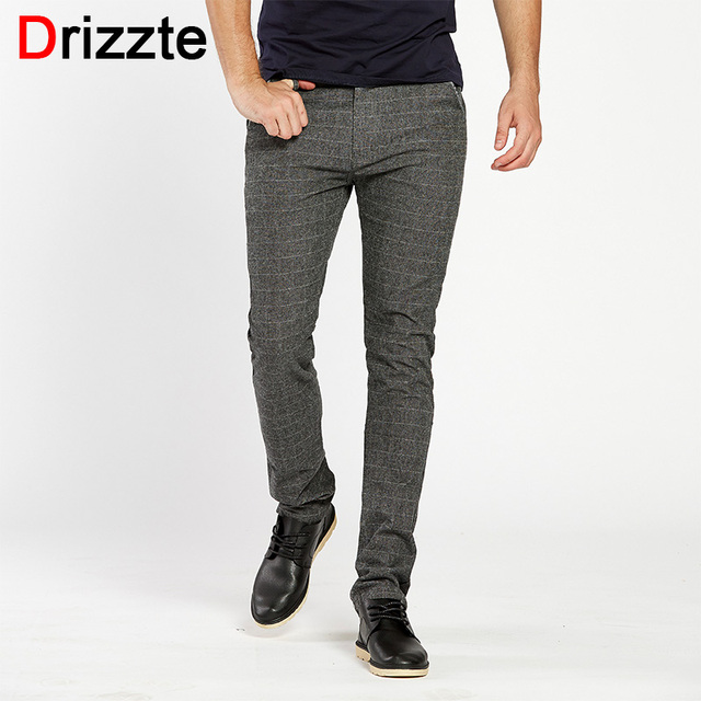 a638087807 Drizzte Mens Dress Casual Lijada Pantalones Pantalón Chino Negro Azul Gris  28 29 30 31 32