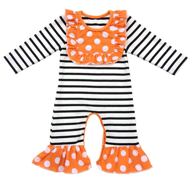 0a07af3fcf8 Black White Stripes Baby Long sleeve Rompers Cotton Newborn Girl Boy Clothes  Christmas thanksgiving gift Baby Romper Jumpsuit