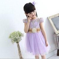 Anlencool lato nowa odzież dziecięca dziecko sukienka Koreański mody księżniczka haftowane organzy sukienka dziecko sukienka darmowa wysyłka