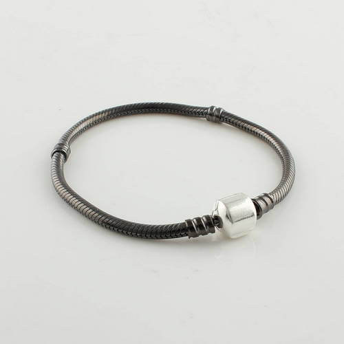 YL501 vente en gros 100% 925 bijoux en argent Sterling Clip serpent chaîne Bracelet métier à tisser bandes bricolage Compatible avec les bijoux européens