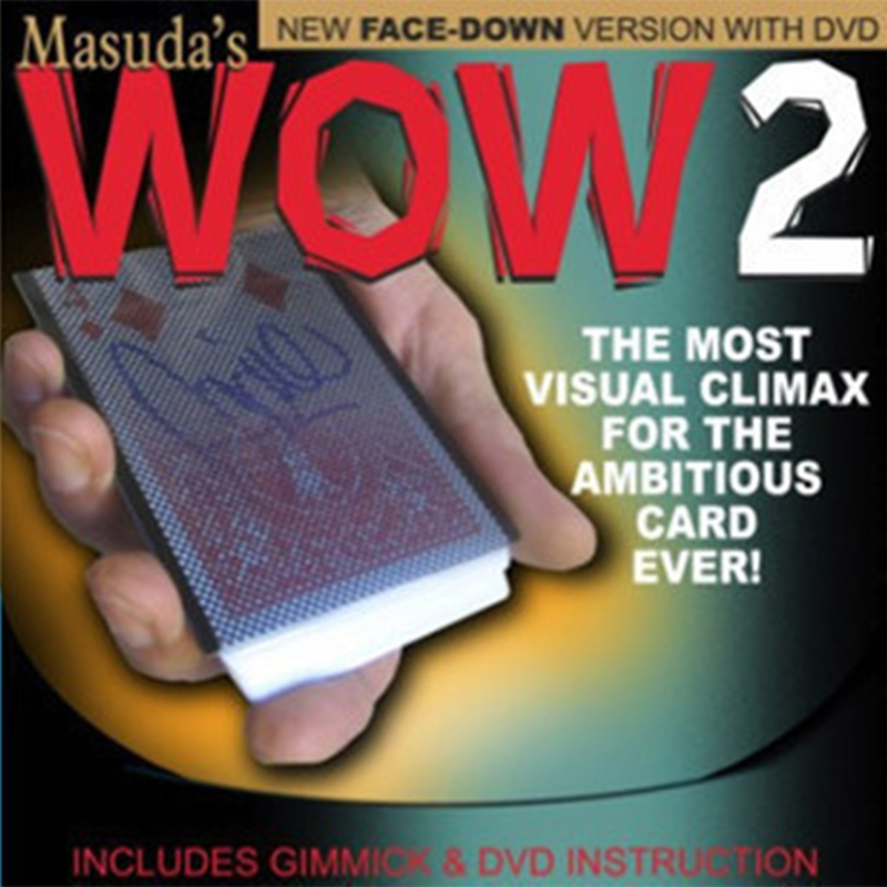 Wow 2.0 (Face Down Version ) Magic Trick Card Sleeve With Card Back Design Magic Props  Change Gimmick Mentalism 81007