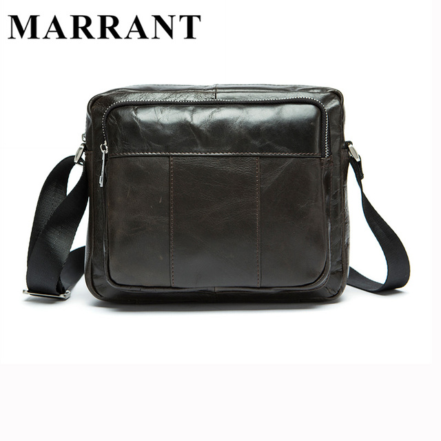 MARRATN Genuine Leather Men Bags Man Crossbody Bag Men Small Business Bags  Male Messenger Cowhide Leather Shoulder Bag 9039 71ace023a3ee2