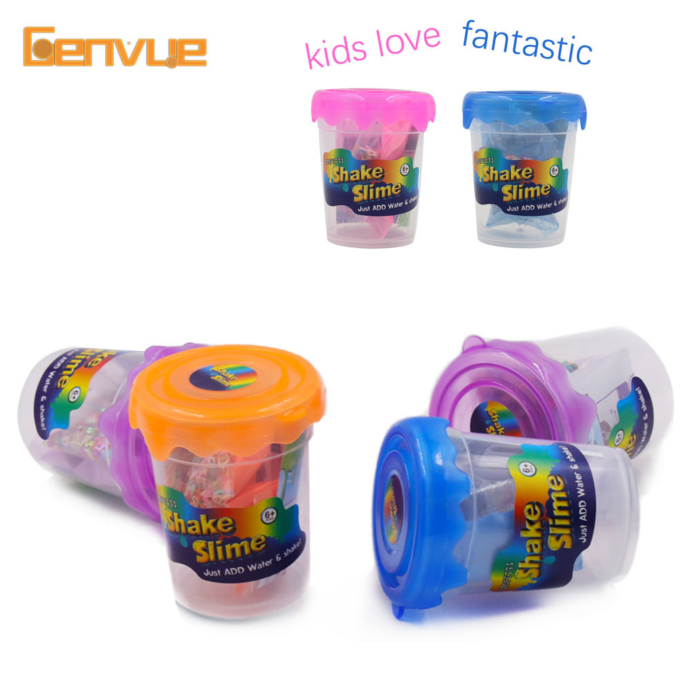 DIY Glitter Fluffy Slime Make Kit Filler Polymer Clay Powder For Supplies Slime Charms Add Water Shake Putty Set Antistress Toys