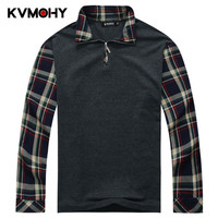 Polo Hombre Mens Polo Shirt Long Sleeve Fat Male Shirts Stitching Leave Two Tops Men Loose Tees Brand Camisa Polos Masculino 7XL