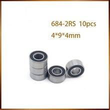 684-2RS Lager 4*9*4 Mm (10 Stuks) ABEC-1 Miniatuur Flens 684RS Kogellagers L-940DD