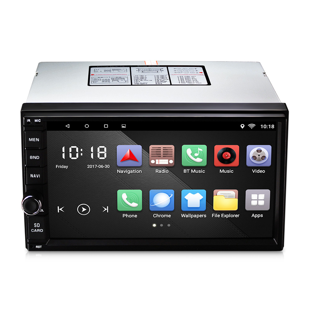 CT0012 Android 6.0 Car Stereo 2 Din Quad Core Head Unit 7'' 2GB/16GB Car Radio Touch Screen Bluetooth Wifi FM Car GPS Navigation free wireless rear camera 2 din android 6 0 car stereo head unit touch screen car pc support bluetooth fm 1080p video 3g 4g wifi