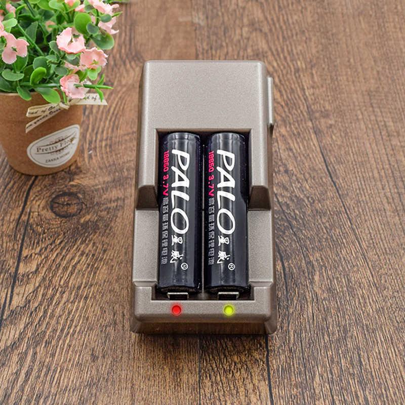 Palo светодиодный индикатор 18650 зарядное устройство для 18650/16340/17670/18500/17500/17335/литий-ионная аккумуляторная батарея