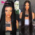 30inch Long Synthetic Lace Front Wig Black Straight Hair Wigs Glueless Lace Front Synthetic Wigs For Black Woman Heat Resistant