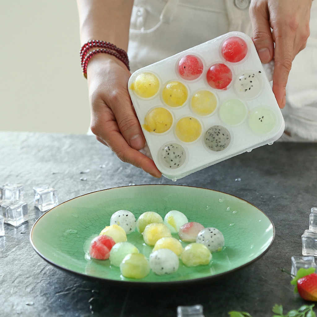 13 cubesice Silicone ice Cube Tray Ice Cream ball Molds tools Dessert Moulds Freezer Maker Form for ice diy ice cube j12