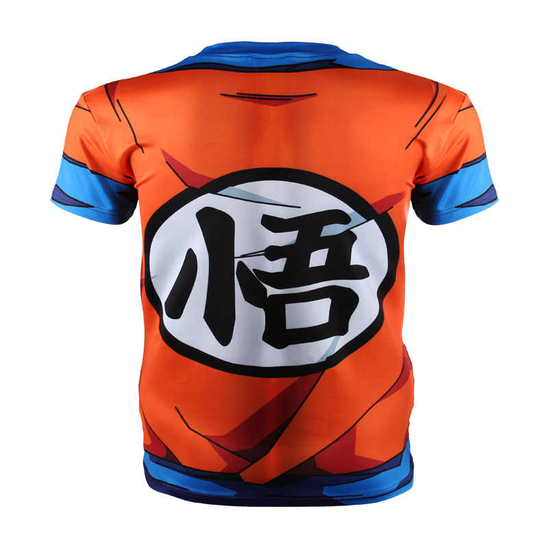 New fashion Japan anime Dragon Ball Z carattere Goku 3D t delle donne della camicia/uomini harajuku del fumetto t shirt casual tee top cosplay Breve