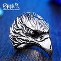 Beier new store 316L Stainless Steel ring Punk animal Ring eagle biker ring  Fashion Jewelry  BR8-436