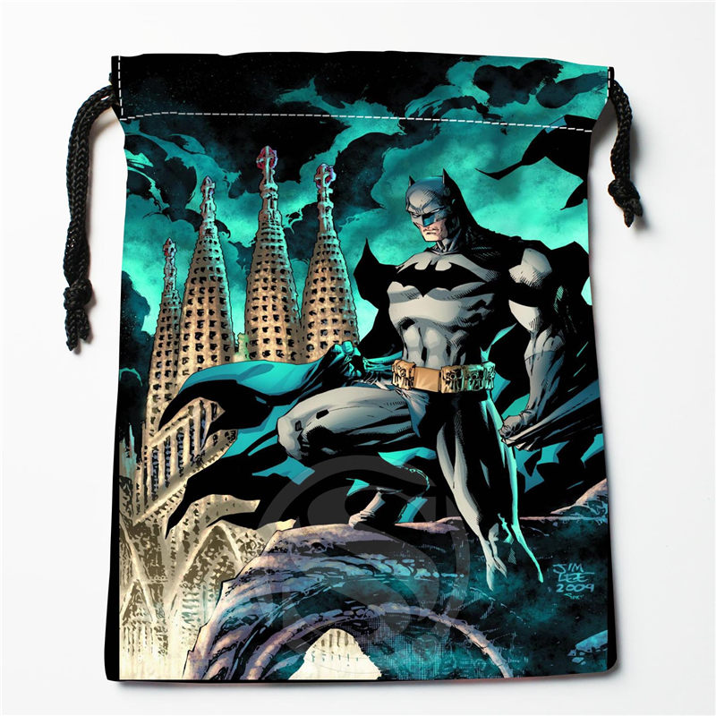 New Batman Printed Storage Bag 27x35cm Satin Drawstring Bags Compression Type Bags Customize Your Image Gifts