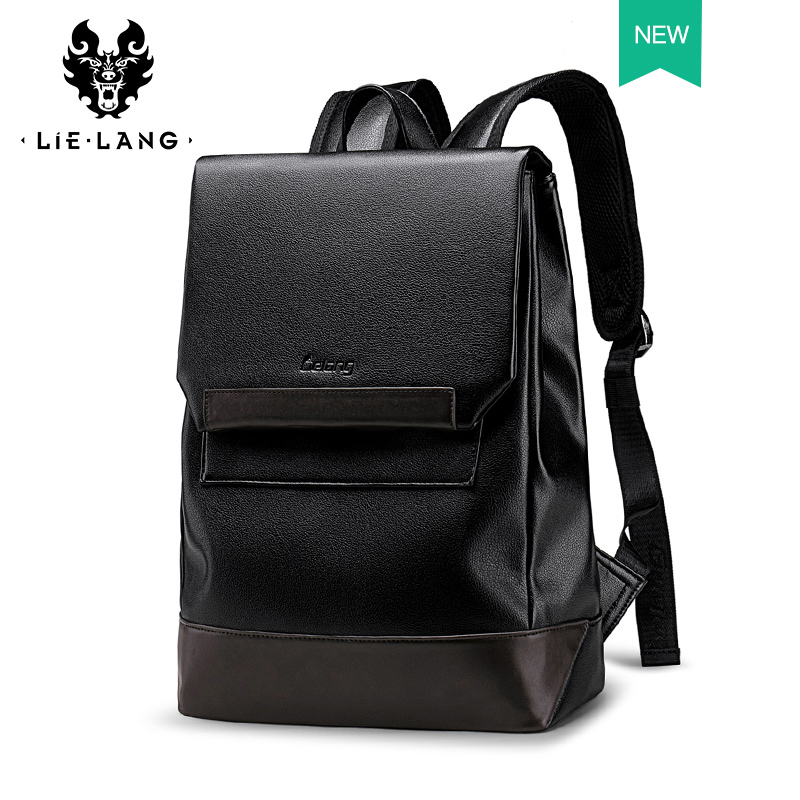 Leather Bookbags Men leather Backpack Trend Casual Simple Backpack Men s New travel Bag Leather Computer