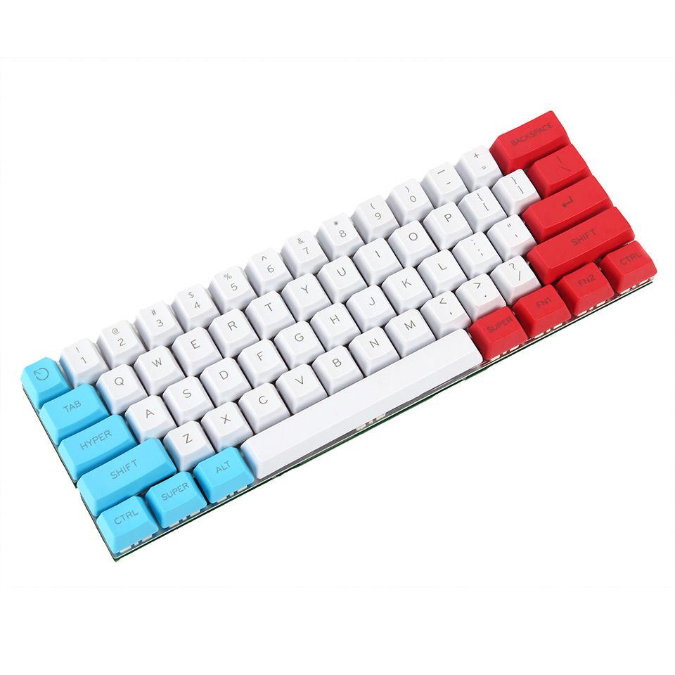 YMDK Customized 61 ANSI Keyset OEM Profile Thick PBT Keycap Set Suitable For Cherry MX Switches Mechanical Gaming Keyboard