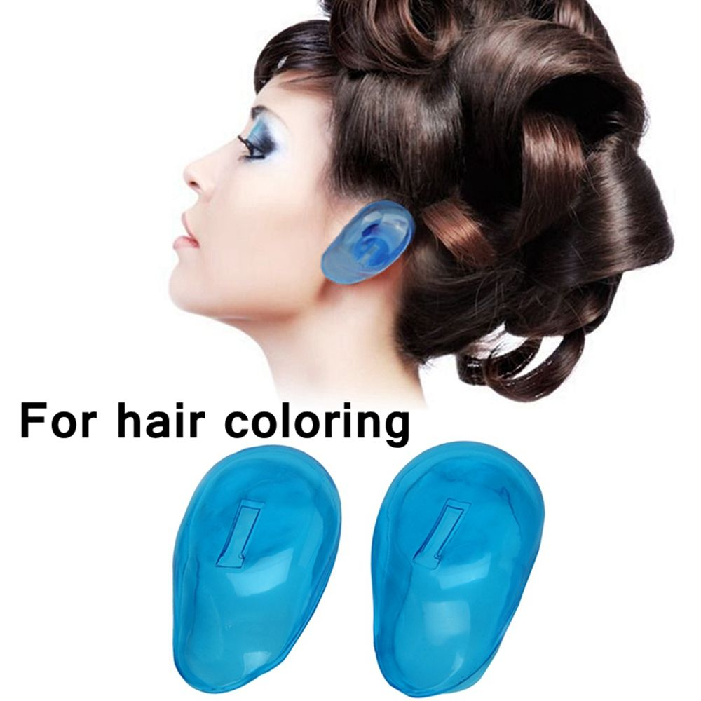 1 Pair Professional Silicone Ear Protect Ear Cover For Hair Dye Earmuffs Hairdressing Tools Salon Styling Accessories Earmuffs