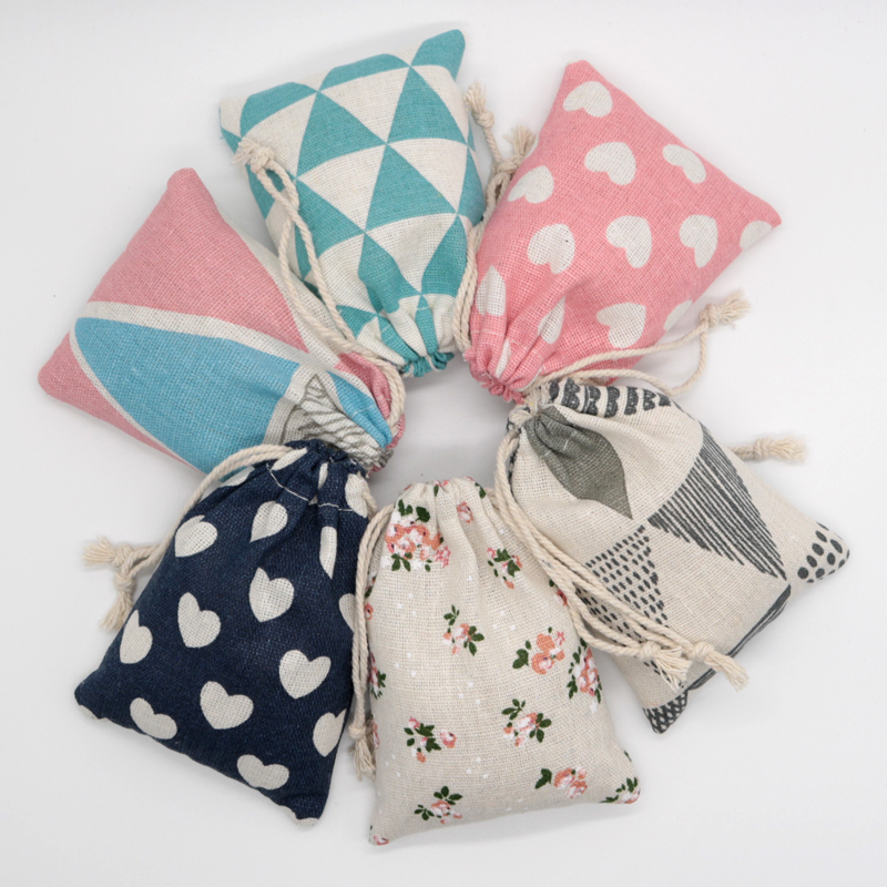 5pcs/lots Multi Color Small Cotton Gift Bags Jewelry Packaging Bag Wedding Party Decoration Favors Drawable Gift Bag & Pouches