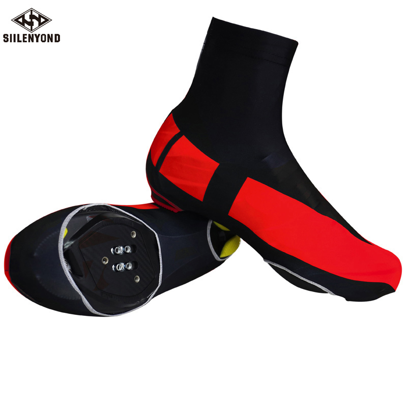 Siilenyond Brand 3 Colors High Quality Cycling Shoe Cover Bicycle Bike Shoe Covers Cycling Zippered Overshoes Sportwear