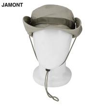 2017 Summer Men's Bucket Hats Round Wide Brim UV Protection Caps Cotton Men Hiking Fishing Sunscreen Caps Fisherman Bucket Hat