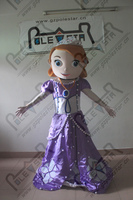 Характер фиолетовый принцессы Софии маскарадный костюм Новые Популярные костюмы принцессы