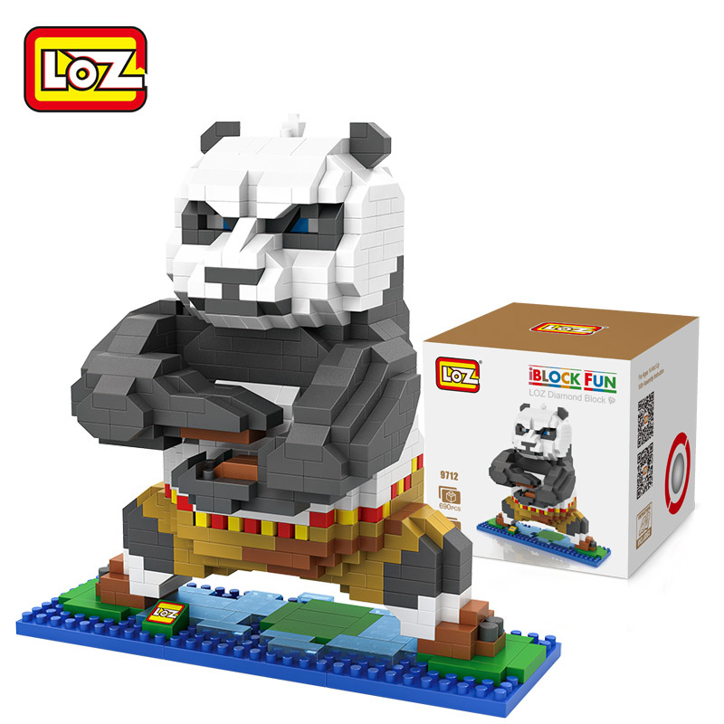 LOZ Diamond Building Blocks Movie Kung fu Panda Po Model 3D DIY Nano Bricks Toys Children Learning & Education Toys Gifts loz diamond blocks figuras classic anime figures toys captain football player blocks i block fun toys ideas nano bricks 9548