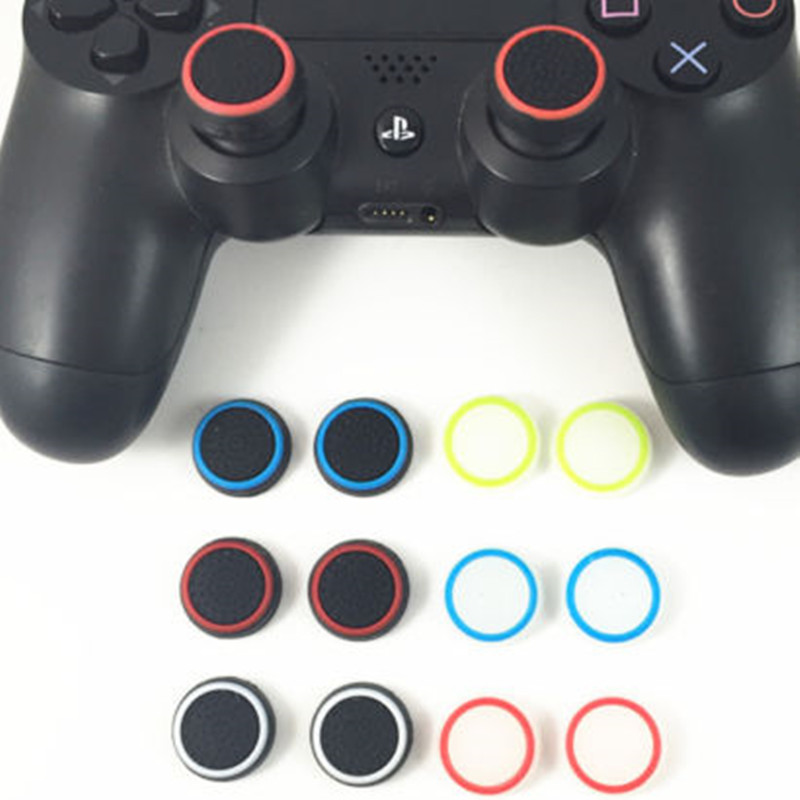 2pcs/lot Game Accessory Protect Cover Silicone Thumb Stick Grip Caps For PS4 Slim Pro/ Xbox 360/ PS3 /Xbox One Game Controllers