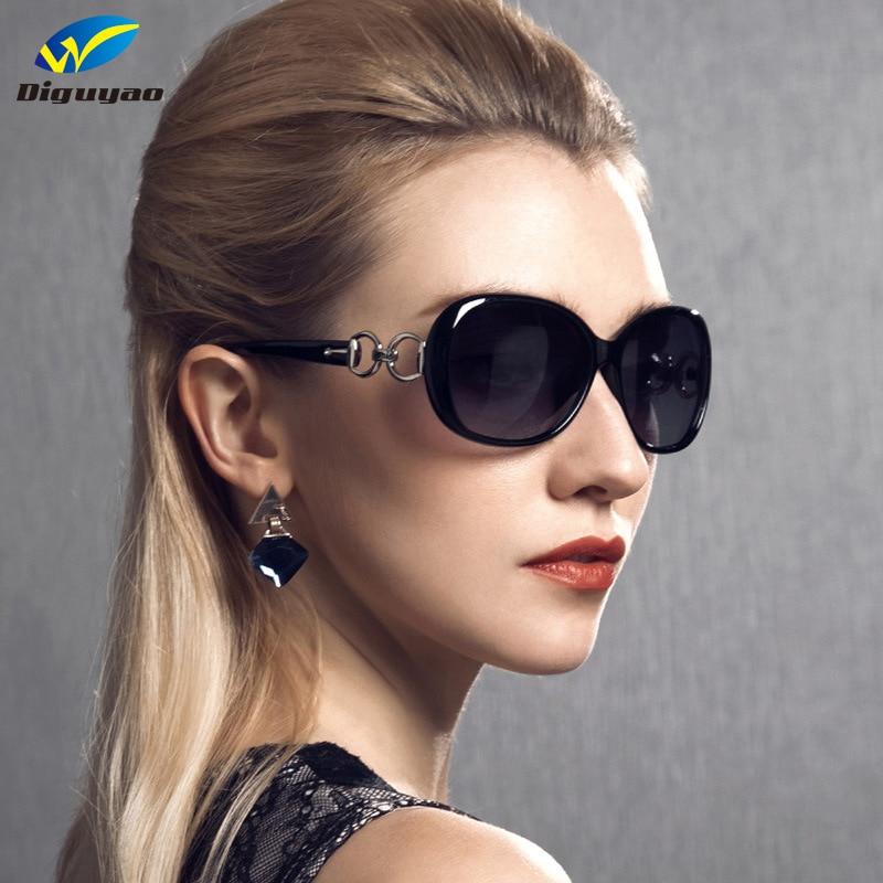 DIGUYAO Vintage Ochelari de soare clasic Oval Ochelari de oglindă cu gradient de cadru Ochelari de protecție pentru femei