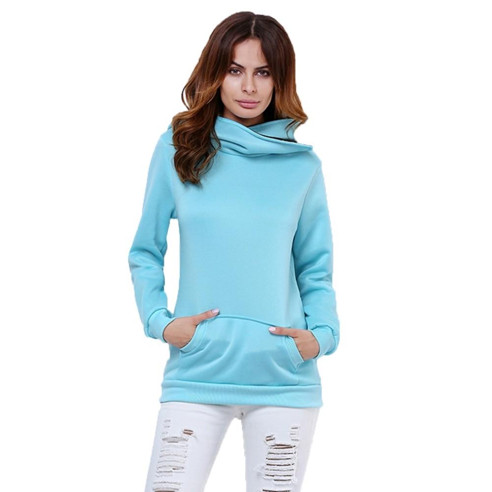 2017 Spring Sweatshirt Hoodies Pullovers Women Clothing Hooded Moleton Femininos Turn down ...