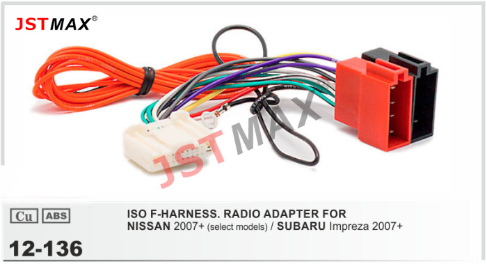 JSTMAX car DVD Radio stereo ISO cable Adapter for NISSAN 2007 For SUBARU Impreza Wiring Harness aliexpress com buy jstmax car dvd radio stereo iso cable adapter subaru impreza trailer wiring harness at eliteediting.co