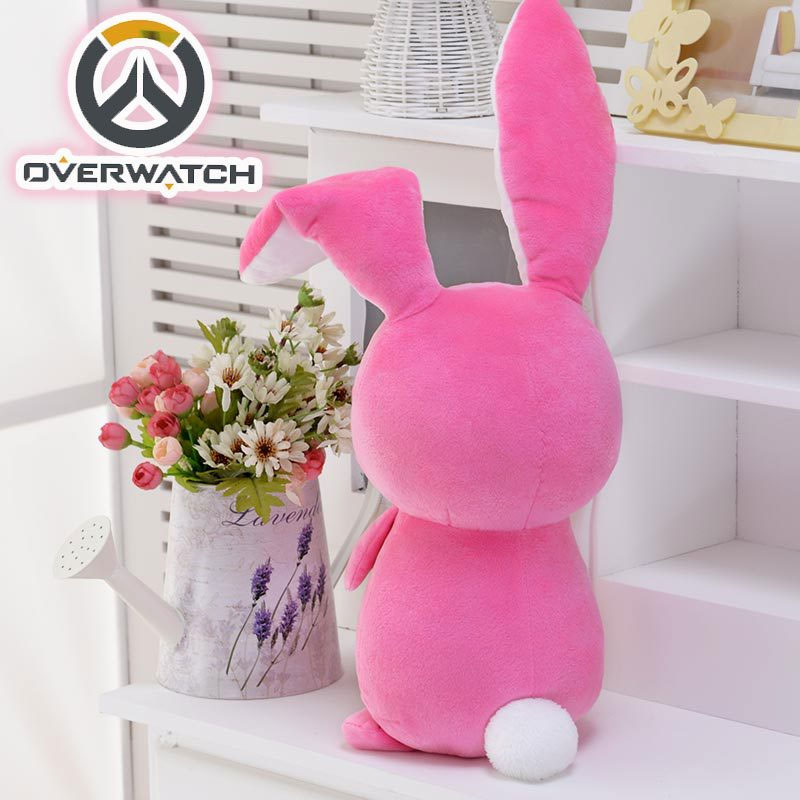 50CM Game Overwatches Pink Dva Rabbit Plush Toys The Last Bastion OW Ganymede Solf Plush Pillow Dolls Toys for Children Gifts 3