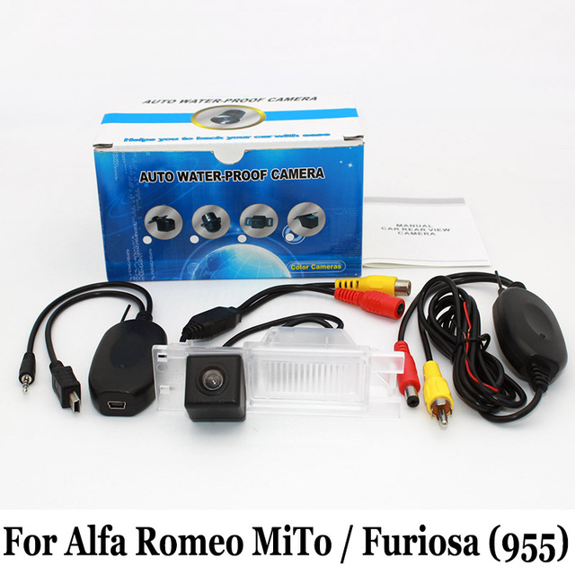 Cámara de aparcamiento Para Alfa Romeo MiTo/Furiosa 2007 ~ 2016/Alambre o Inalámbrica HD Gran Angular de Lente de Visión Nocturna del CCD de Visión Trasera cámara