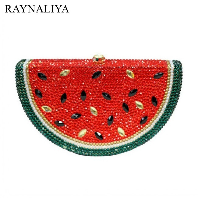 High Class Watermelon Shape Fashion Rhinestone Panelled Clutch Bag Women Party Clutches Handbag Evening Bags Smyzh-e0144High Class Watermelon Shape Fashion Rhinestone Panelled Clutch Bag Women Party Clutches Handbag Evening Bags Smyzh-e0144