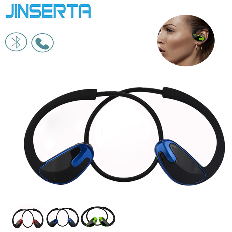 JINSERTA Super Bass Bluetooth Earphone Wireless Headset Sports Headsets With Mic HiFi Stereo Bluetooth Earphones For Phone 195hb wireless bluetooth mini headphones super bass headsets stereo sports over ear hifi earphones earbuds with mic for remax