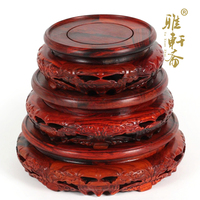 TZ Zhai Rosewood Carving Crafts Red Rosewood Three Piece Of Jade Flower Bat A Few