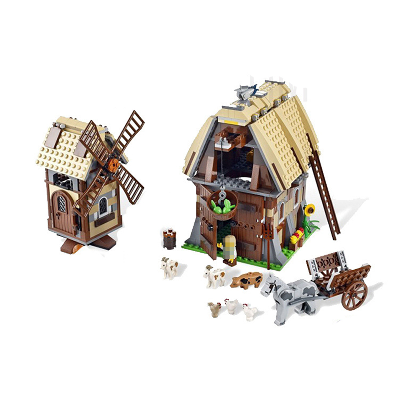 цены Lepin 16049 Creative Series The Mill Village Raid Set 1010Pcs Genuine Building Blocks Bricks Educational Toys Birthday Gift