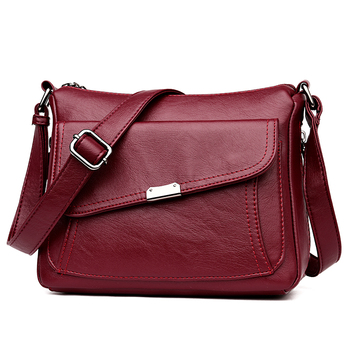 Female leather Messenger Bags Feminina Bolsa Leather Luxury Handbags Women Designer Sac a Main Ladies Shoulder Bag