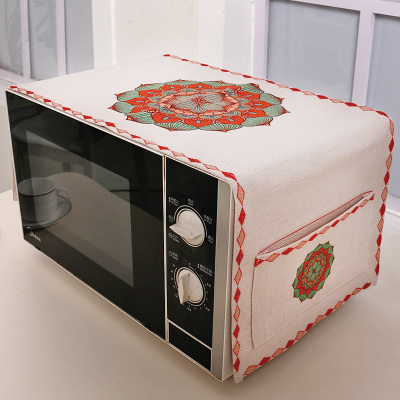 Ethnic Printed Kitchen Microwave Oven Cover