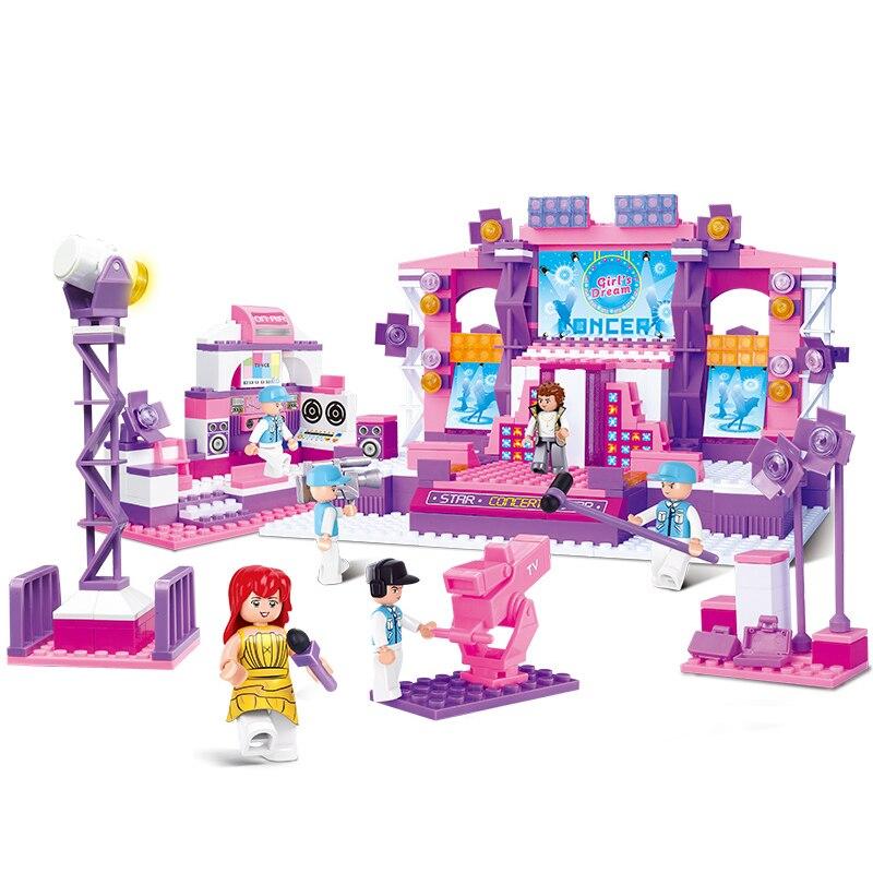 Sluban Model Building Compatible lego Lego B0255 430pcs Model Building Kits Classic Toys Hobbies Girl Dream Stage