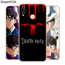 DREAMFOX M453 Death Note Detective Conan Soft TPU Silicone  Case Cover For Huawei Honor 6A 6C 7X 9 10 P20 Lite Pro P Smart 2019