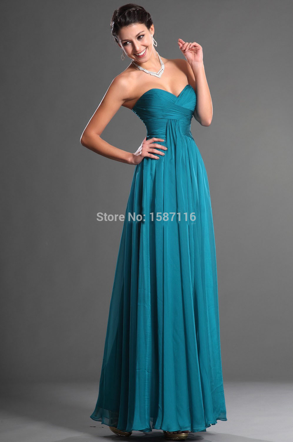 Dress up picture more detailed picture about 2015 custom high 2015 custom high quality bridesmaid dress sweetheart long chiffon turquoise bridesmaid dresses vestido turquesa mint dress ombrellifo Choice Image