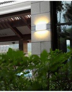 Image 4 - Moderne Up Down Dual Head Indoor Outdoor Verlichting Wandlampen Contract Cob 6W 12W Led Wandlamp IP65 Waterdichte Ac 85 265V