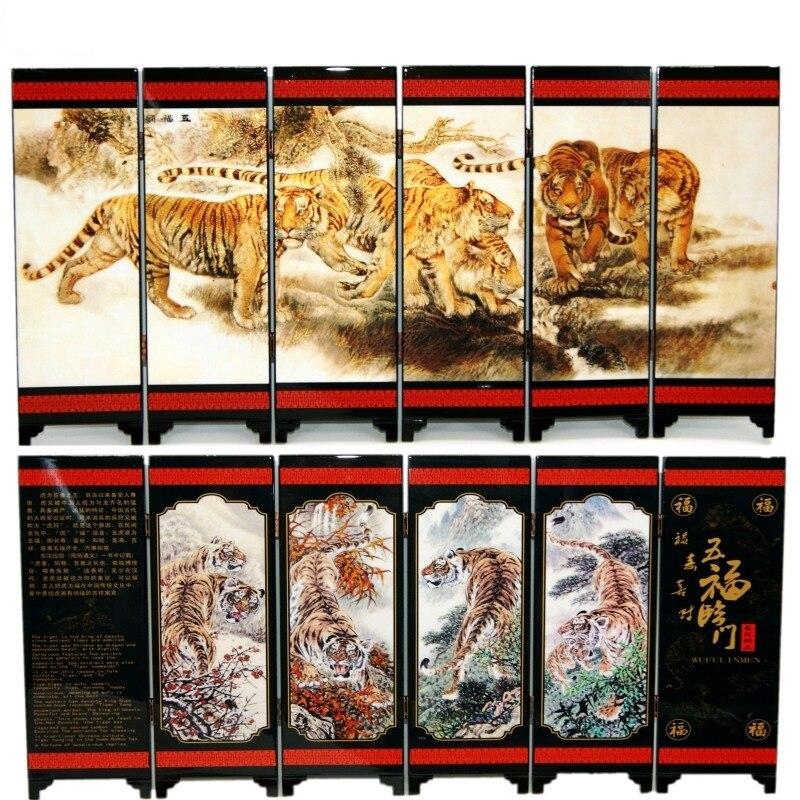 Офисный стол складной мини Экраны 6 присоединился к панели декоративные роспись по дереву бебу пять благословения приезжать в доме Тигры