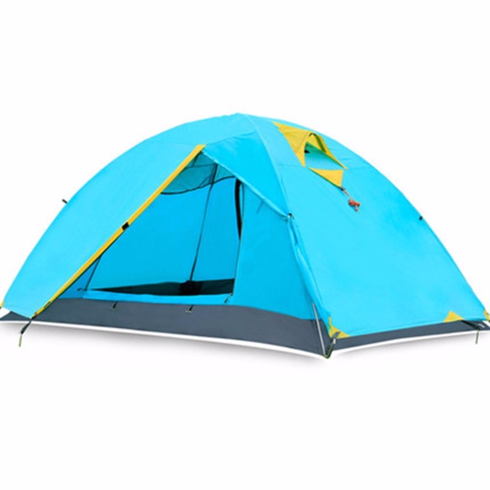 Two Person 210T Polyester Tent Set Double Wall Extent Waterproof Outdoor Hiking Backpacking Camping Tents Aluminum Pole + Bag worst person ever