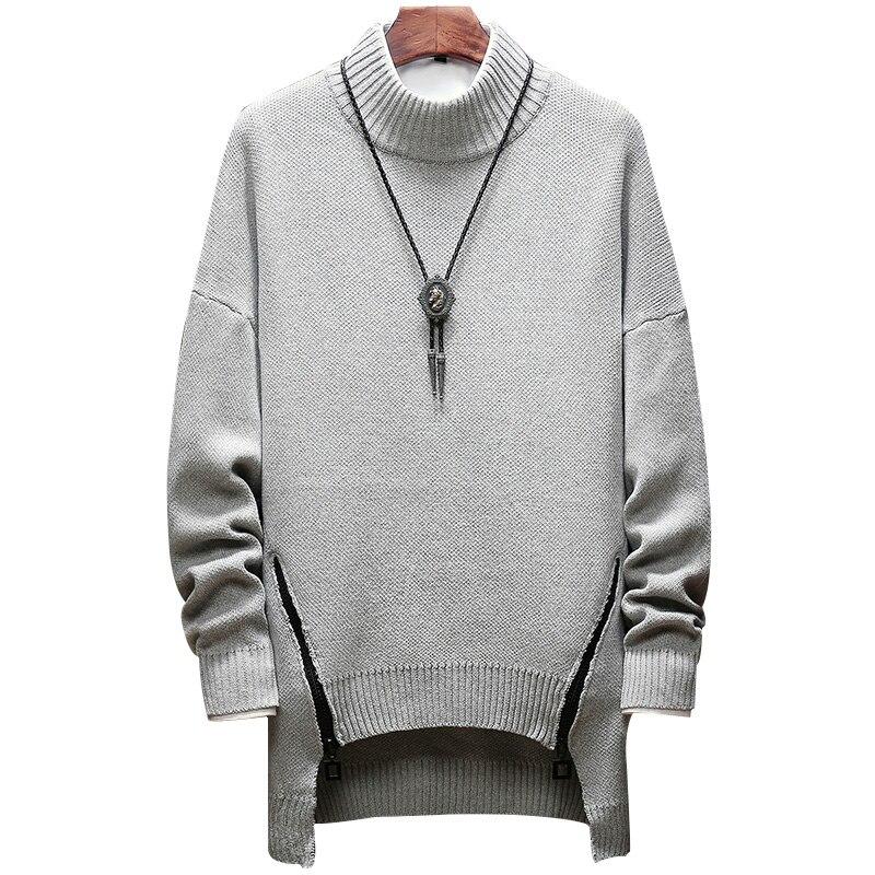 0f814c78eb1b Купить Молния зимний свитер Мужская одежда 2018 модные теплые мужские свитер  для мужчин пуловер Джемпер sueters SB73 Свободные Твердые M 5XL Цена Дешево