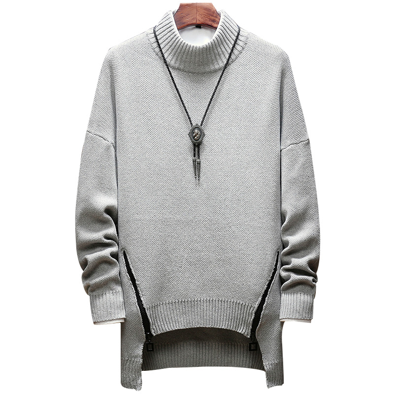 Zipper pull d'hiver hommes vêtements 2018 mode chaud hommes chandail pour hommes pull jumper sueters SB73 lâche solide M-5XL