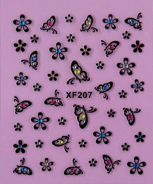 2 Sheet Korean Nail Supplies Nail Stickers Xf207 In Stickers
