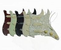 KAISH 6 Colors Loaded Prewired ST Strat Pickguard W Alnico Pickups Vintage Tortoise